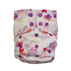 Lighthouse Kids Company All-In-One Cloth Diaper Bamboo Aloha Dreams Front of Diaper