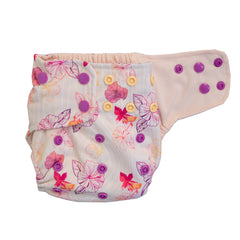 Lighthouse Kids Company All-In-One Cloth Diaper Bamboo Aloha Dreams Pink Wicking Jersey