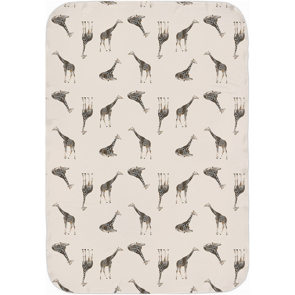 Neutral Nature Giraffe - Jersey Swaddle Blankets