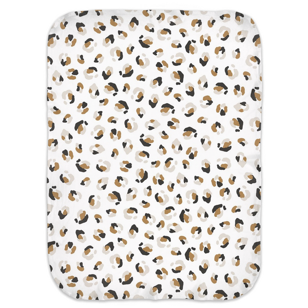Neutral Nature Cheetah - Jersey Swaddle Blankets