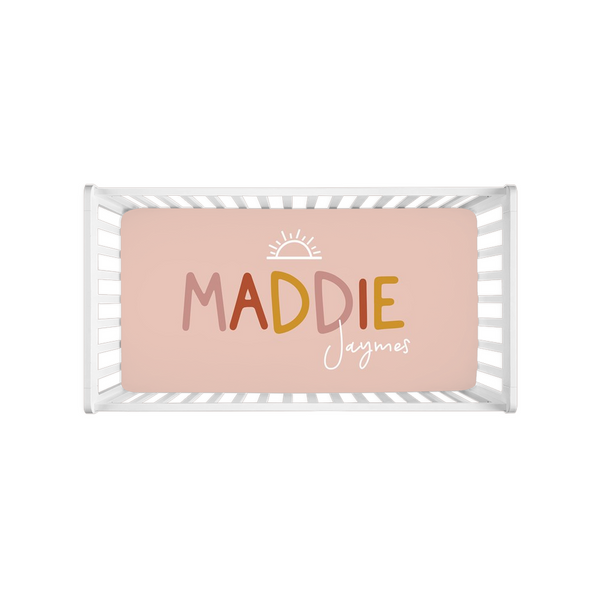 Sunny Modern Personalized Crib Sheets