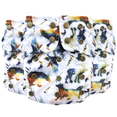 Adjustable Toddler Cloth Diaper - All-In-One - Into the Wild