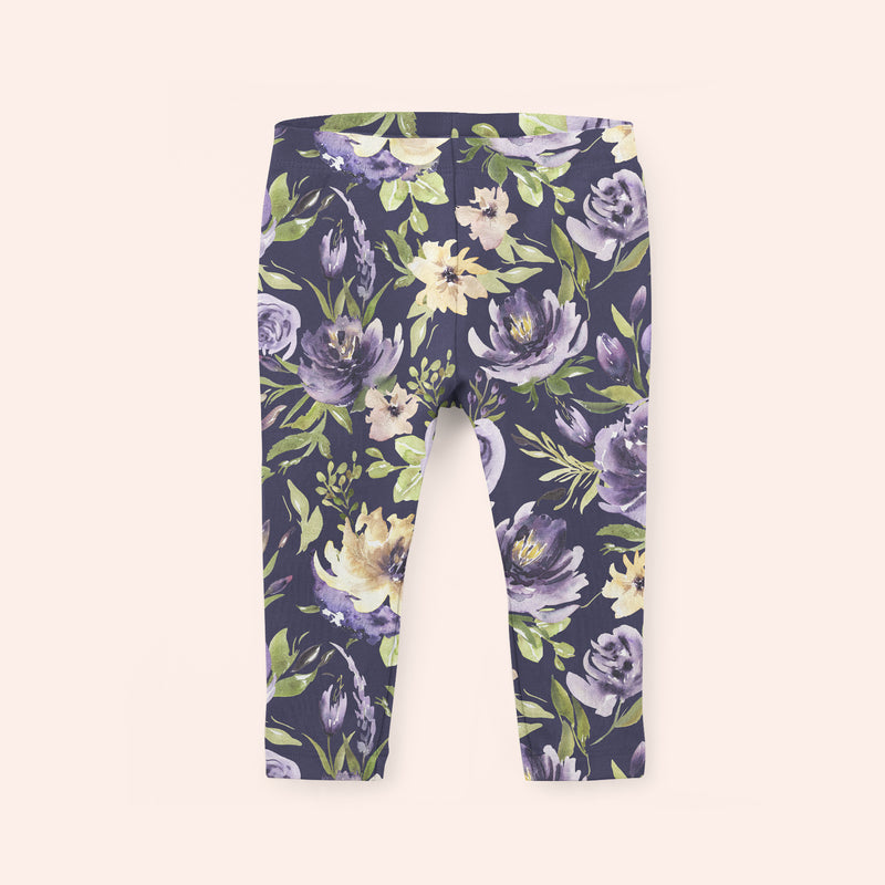 Purple Vintage Kid's Leggings