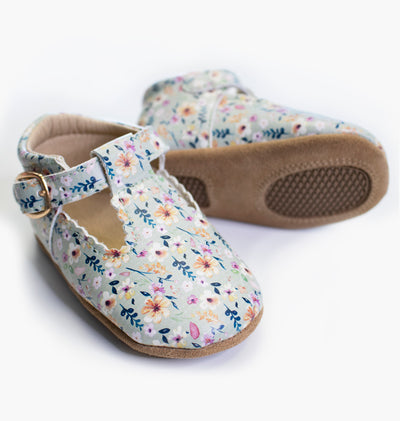 Baby/Big Kid T-Bar Moccasins - Wild Blossom