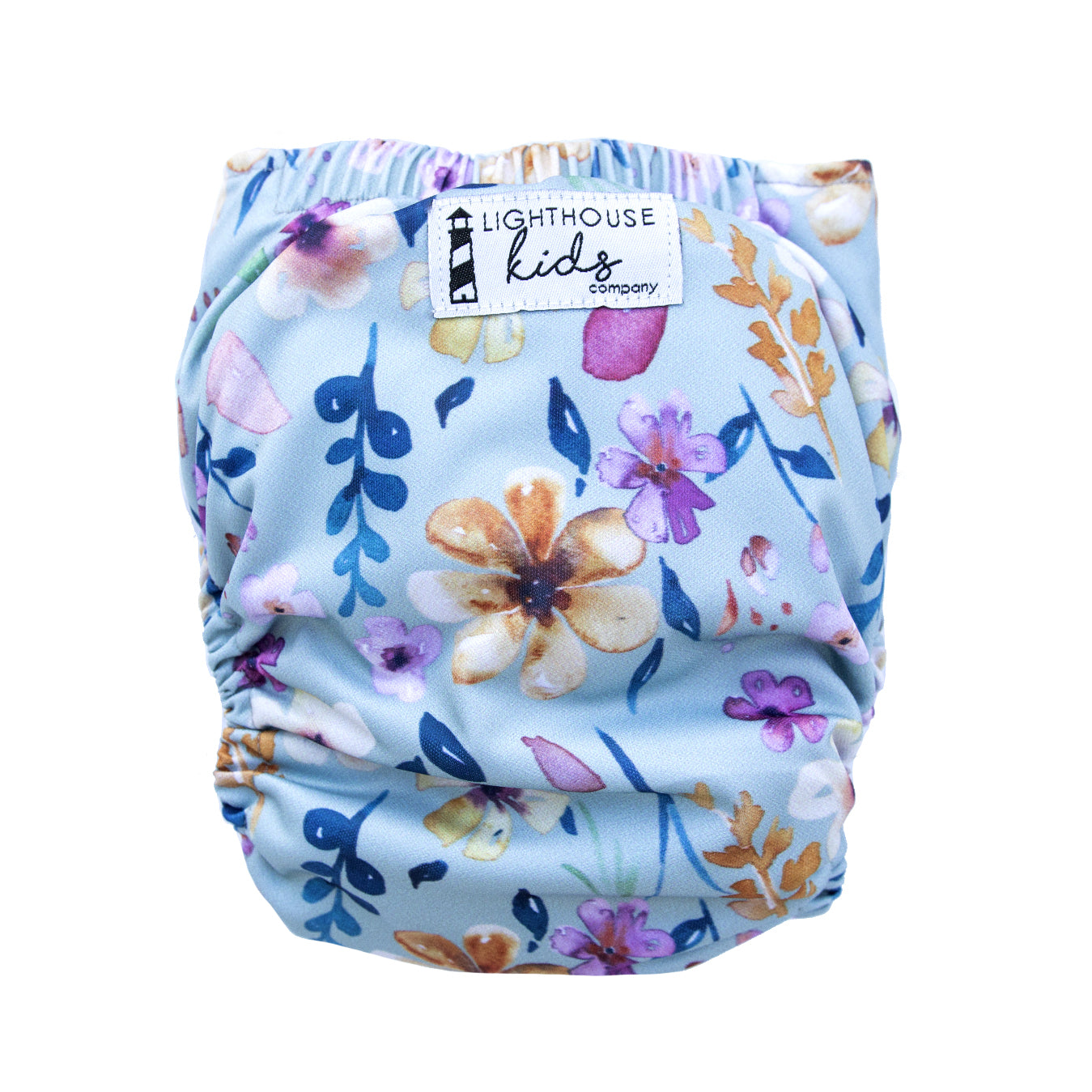 Adjustable Toddler Cloth Diaper - All-In-One - Wild Blossom
