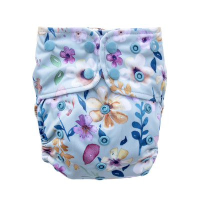 Adjustable Baby Cloth Diaper - All-In-One - Wild Blossom
