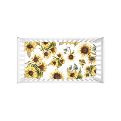 Sunflower Crib Sheet