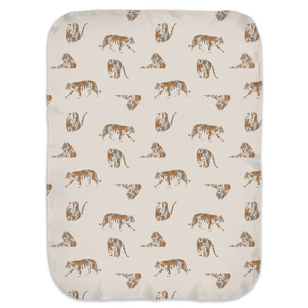 Neutral Nature Tiger - Jersey Swaddle Blankets
