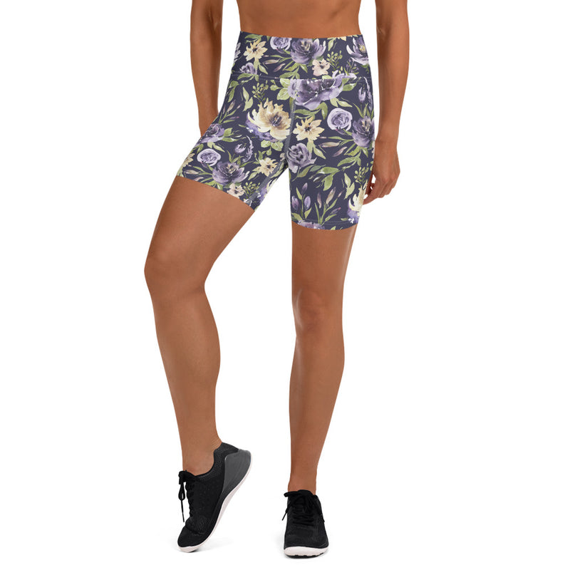 Purple Vintage Yoga Shorts
