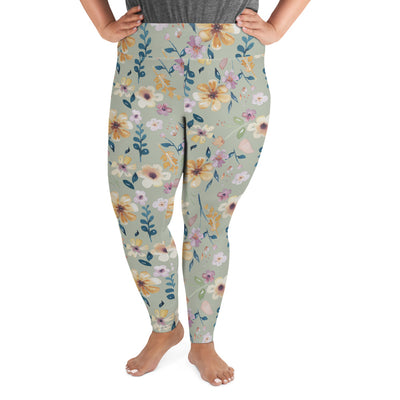 Wild Blossom - High Waist Soft and Stretchy PLUS Size Leggings