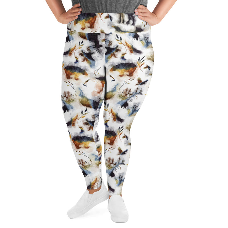 Into the Wild - High Waisted Soft and Stretchy PLUS Size Leggings