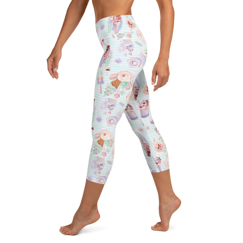 Spring Sweets Yoga Capri Leggings