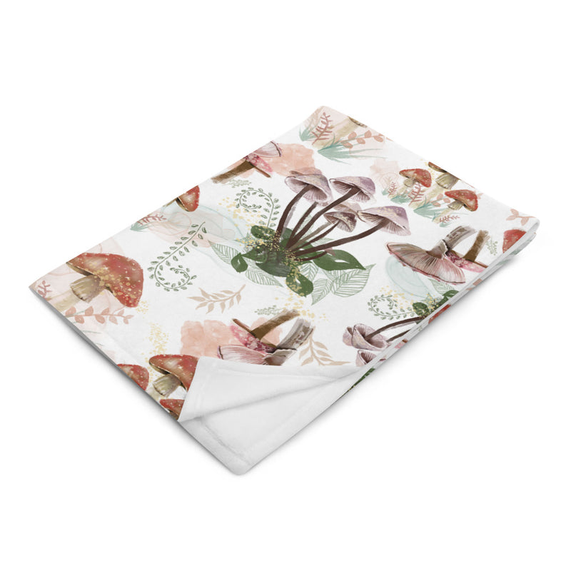 Toadstool - Silky Soft Touch Throw Blanket