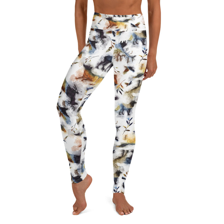 Into the Wild - High Waisted Soft and Stretchy Yoga Leggings