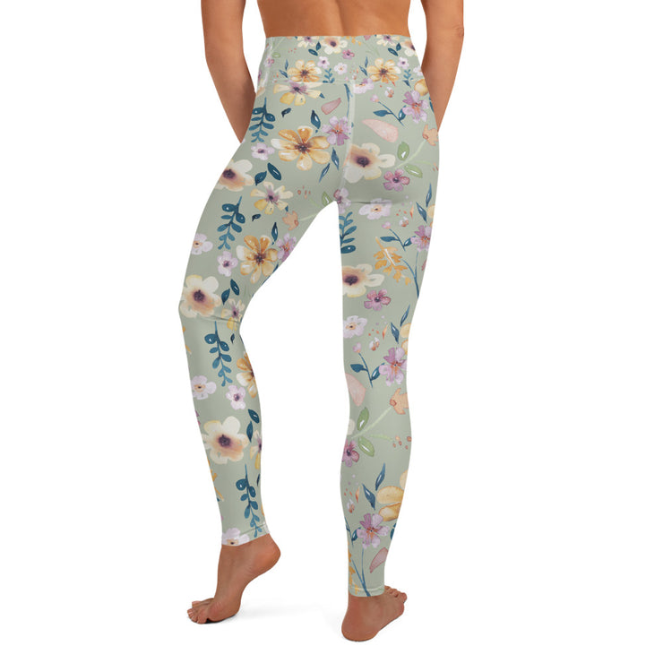 Wild Blossom - High Waisted Soft and Stretchy Yoga Leggings