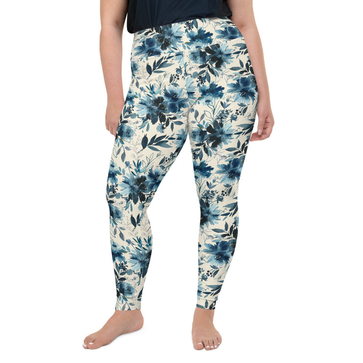Indigo Girl - Hight Waist Soft and Stretchy PLUS - All-Over Print Plus Size Leggings