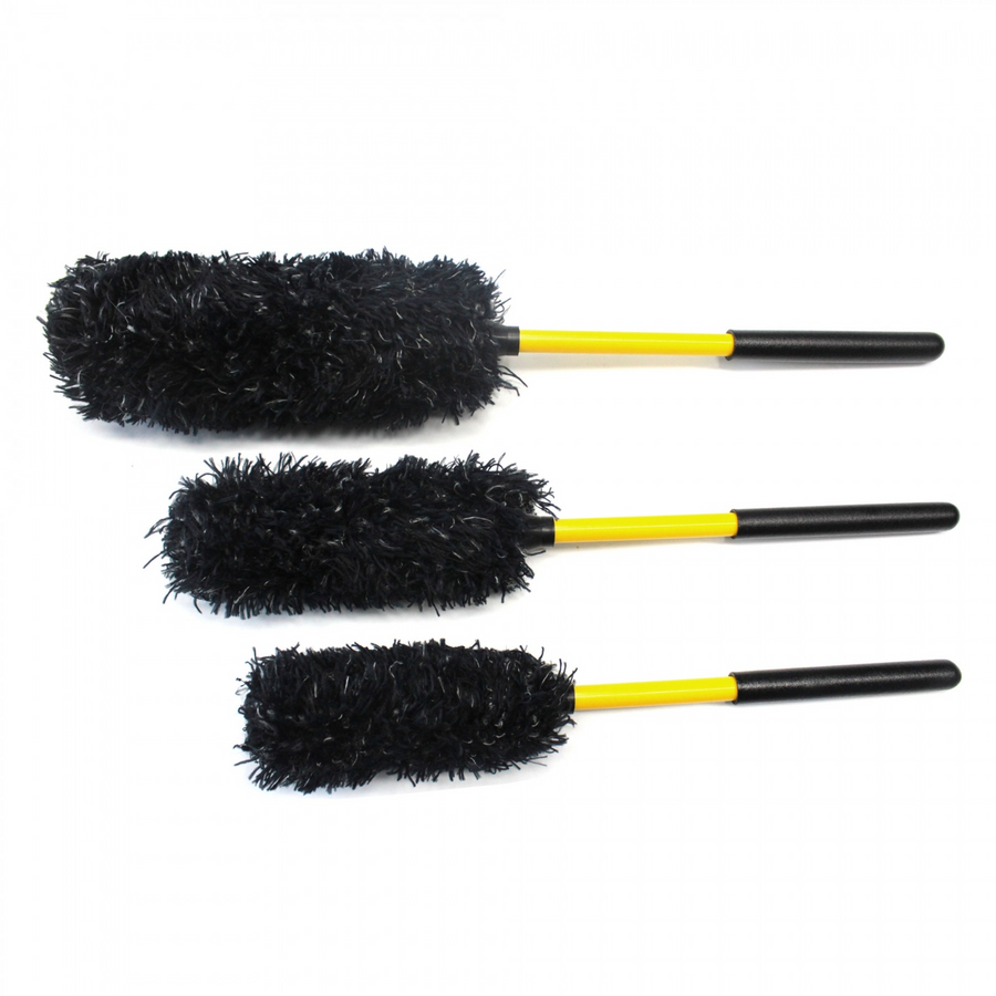 ShineMaster Microfiber Wheel Brush 3-Piece Kit