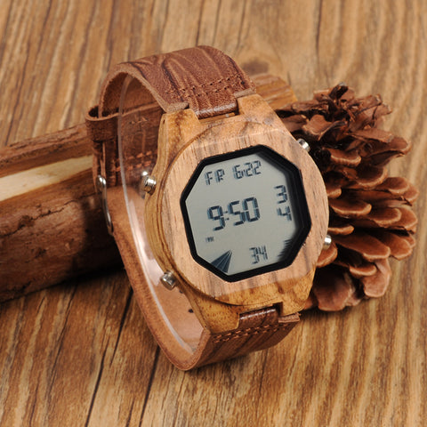 Sport Wood Digital Watch