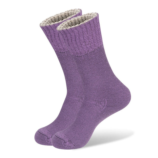 Wanderer Women's Hiking Wool Socks In Purple