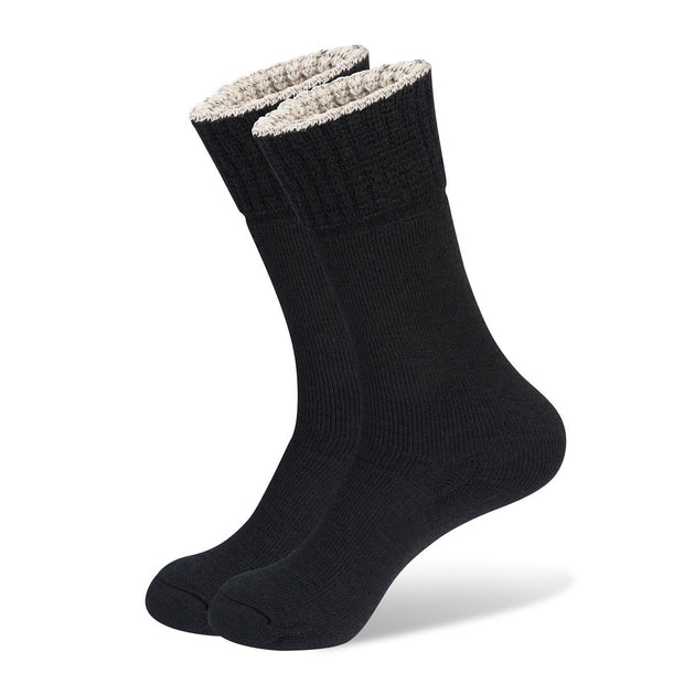 Wanderer Women's Hiking Wool Socks In Black