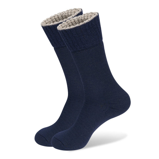 Wanderer Women's Hiking Wool Socks In Navy