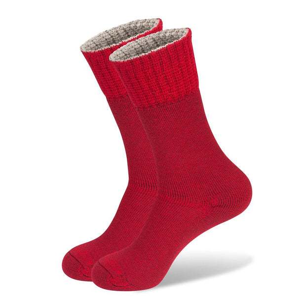 Wanderer Women's Hiking Wool Socks In Red