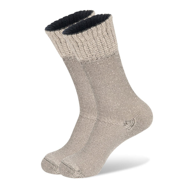 Wanderer Women's Hiking Wool Socks In Natural Oatmeal Cream