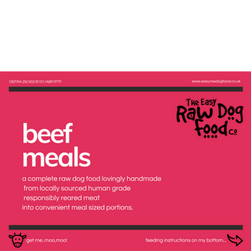 The Easy Raw Dog Food Co Beef & Vegetables