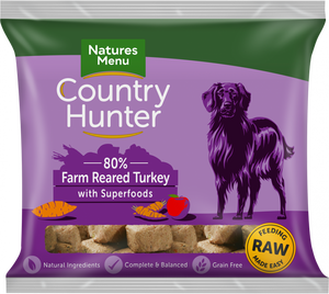 Natures Menu Country Hunter Turkey Nuggets