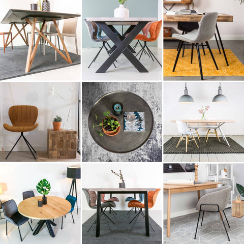 Dutch Design Tables collage