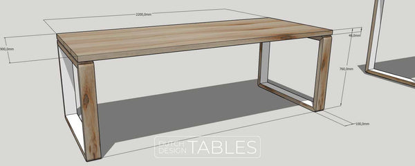 Tafel DREAUM Settanta tekening Dutch Design Tables