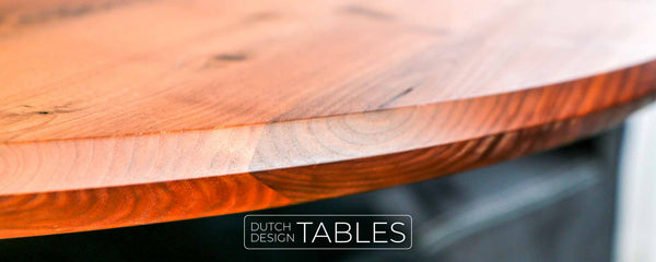 Tafel DREAUM notenhout rond Dutch Design Tables