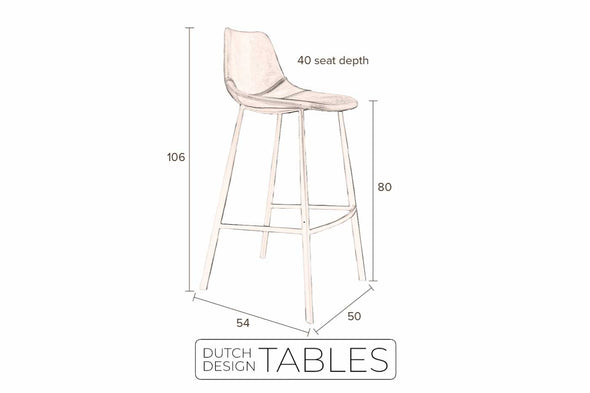 Barkruk Dutchbone Franky Dutch Design Tables