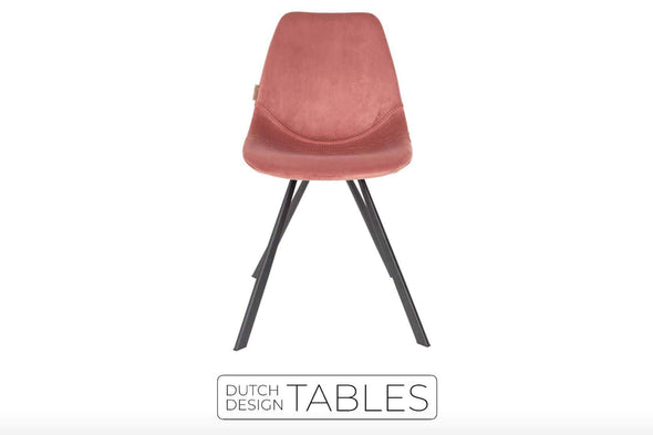 Stoel Dutchbone Franky Chair velvet Dutch Design Tables