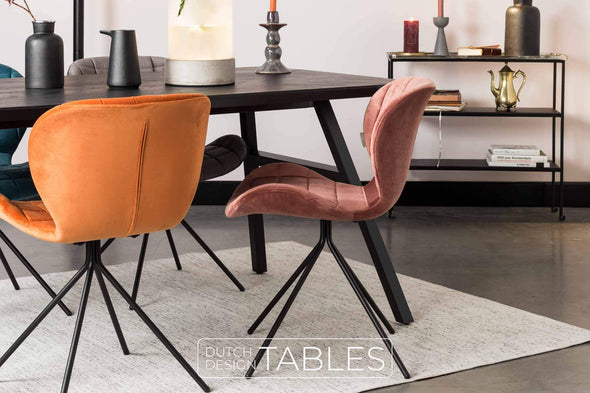 Stoel Zuiver OMG velvet (per 2) Dutch Design Tables