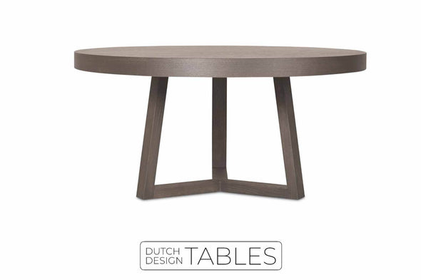 Tafel eiken Keijser en Co Big Top rond 3-poot Dutch Design Tables