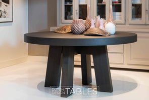 Tafel eiken Keijser en Co Big Top rond 4-poot Dutch Design Tables
