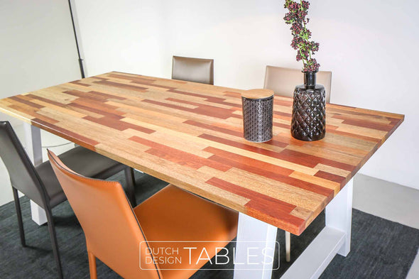 Tafel mixed wood meranti DREAUM Mista Dutch Design Tables