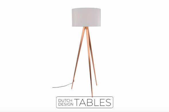 Vloerlamp Zuiver Tripod Copper Dutch Design Tables