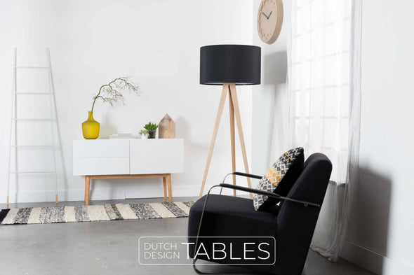 Vloerlamp Zuiver Tripod Wood Dutch Design Tables