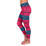 Liquido Patterned Yoga Legging Lacey Layers
