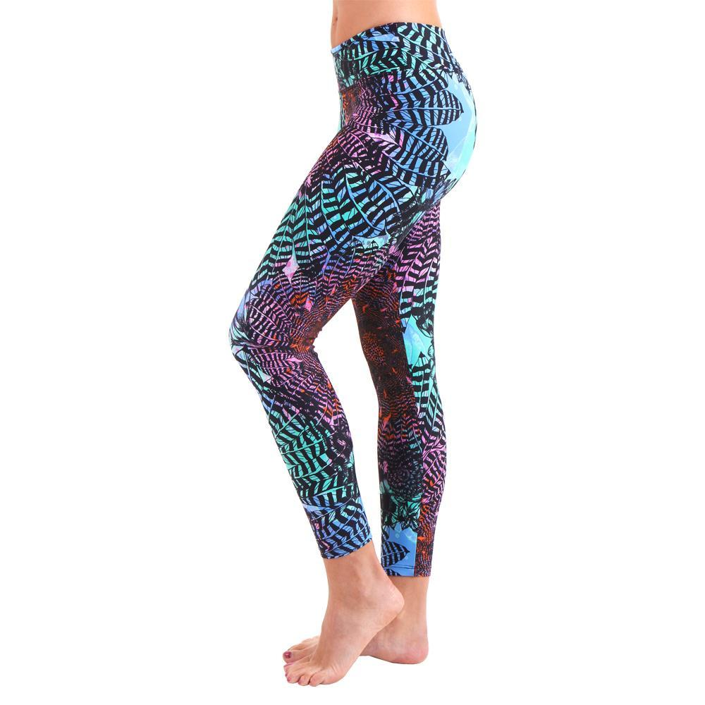 Liquido Active Patterned Yoga Legging Echo
