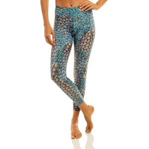 7/8 Eco Legging Mermaid Spell /  Desenli Yoga Tayt