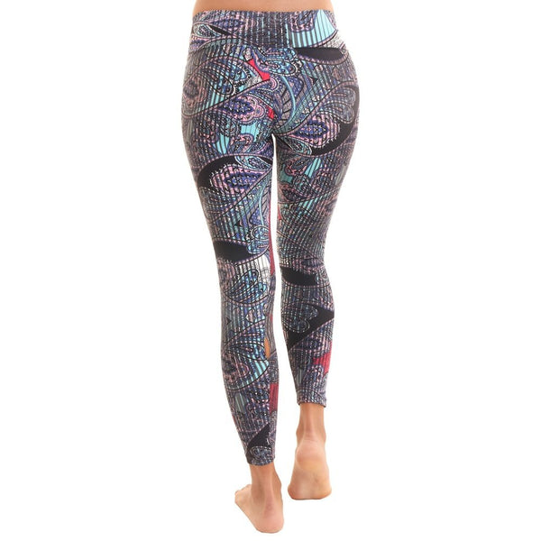 Liquido Active Patterned Yoga Legging Double Effect