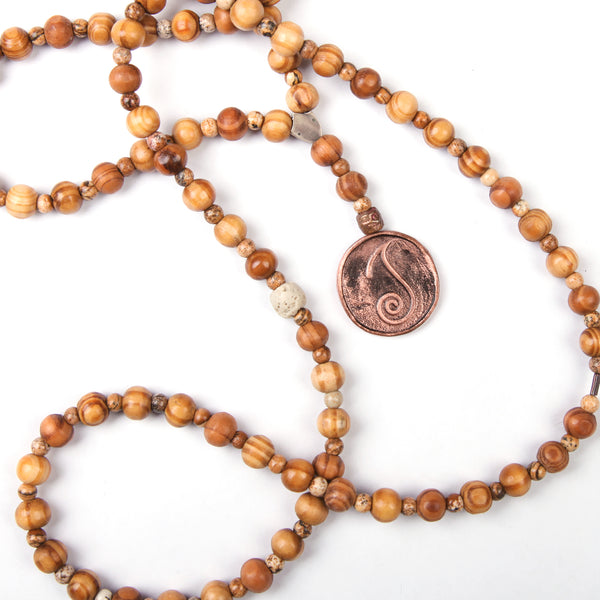 Tesbih Kolye (Sandal) - Ateş (Enerji)        Mala Necklace (Sandalwood) - Fire (Energy)