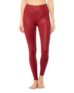 HIGH-WAIST AIRBRUSH LEGGING-CRIMSON GLOSSY