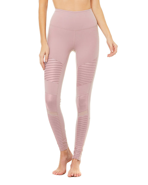 Moto Legging - Dusted Plum Glossy