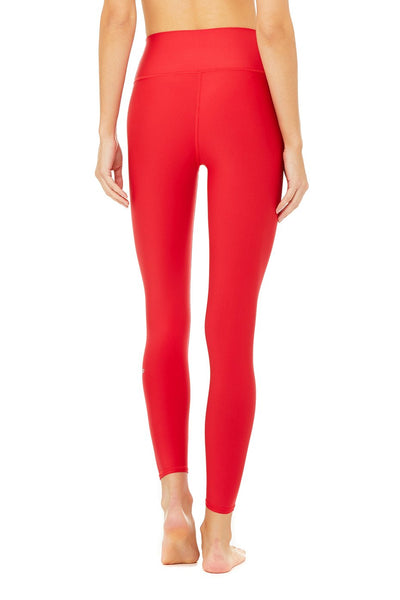 High Waist Airlift Legging- Scarlet