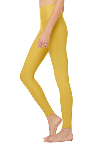 High Waist Airlift Legging- Sulphur