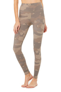 High Waist Vapor Legging Putty Camouflage
